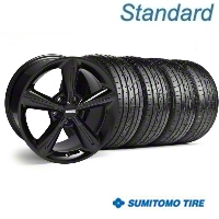 2010 OE Style Black Wheel & Sumitomo Tire Kit - 18x8 (05-14) - American Muscle Wheels 28253||63039||KIT