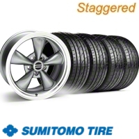 Staggered Anthracite Bullitt Wheel & Sumitomo Tire Kit - 20x8.5/10 (10-12)