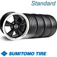 Black Bullitt Wheel & Sumitomo Tire Kit - 20x8.5 (10-12)