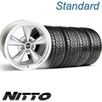 Silver Bullitt Wheel & NITTO Tire Kit - 17x9 (10-12)