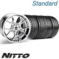 Chrome GT4 Wheel & NITTO Tire Kit - 18x9 (10-12)
