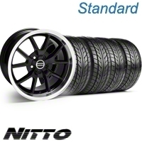 Black GT4 Wheel & NITTO Tire Kit - 18x9 (10-12)