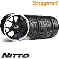 Staggered Black GT4 Wheel & NITTO Tire Kit - 18x9/10 (10-12)