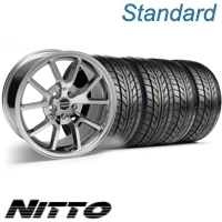 Chrome FR500 Style Wheel & NITTO Tire Kit - 18x9 (10-12)