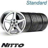 Chrome Saleen Wheel & NITTO Tire Kit - 18x9 (10-12)