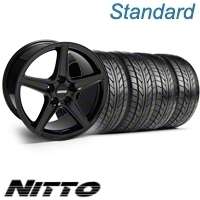 Black Saleen Wheel & NITTO Tire Kit - 18x9 (10-12)
