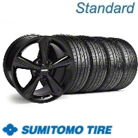 Black 2010 OE Style Wheel & Sumitomo Tire Kit - 18x8 (10-12)