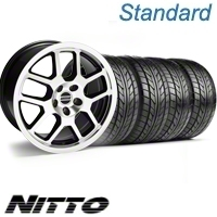 Black Machined 2007 Style GT500 Wheel & NITTO Tire Kit - 18x9.5 (10-12)