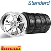 Chrome Bullitt Wheel & Pirelli Tire Kit - 19x8.5 (10-12)