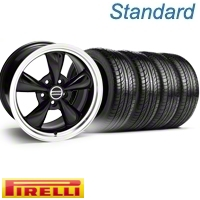 Black Bullitt Wheel & Pirelli Tire Kit - 19x8.5 (10-12)