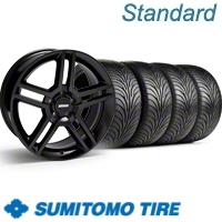 Black GT500 Wheel & Sumitomo Tire Kit - 18x9 (11-12)
