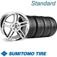 Chrome GT500 Wheel & Sumitomo Tire Kit - 18x9 (11-12)