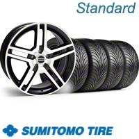 Black Machined GT500 Wheel & Sumitomo Tire Kit - 18x9 (11-12)