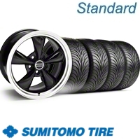 Black Bullitt Wheel & Sumitomo Tire Kit - 18x9 (11-12)