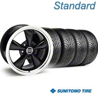 Bullitt Black Wheel & Sumitomo Tire Kit - 18x9 (05-14 GT, V6) - American Muscle Wheels KIT