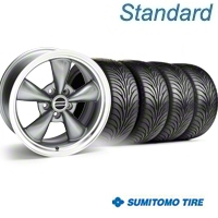 Bullitt Anthracite Wheel & Sumitomo Tire Kit - 18x9 (05-14 GT, V6) - American Muscle Wheels 28322