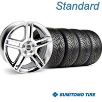Chrome GT500 Wheel & Sumitomo Tire Kit - 18x9 (05-14) - AmericanMuscle Wheels KIT||28220||63008