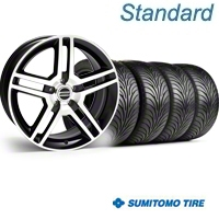 Black Machined GT500 Wheel & Sumitomo Tire Kit - 18x9 (05-14) - AmericanMuscle Wheels KIT||28221||63008
