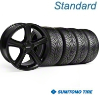 Black GT Premium Wheel & Sumitomo Tire Kit - 18x9 (05-14) - AmericanMuscle Wheels KIT||28210||63008