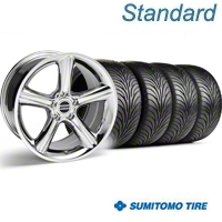 Chrome GT Premium Wheel & Sumitomo Tire Kit - 18x9 (05-14) - AmericanMuscle Wheels KIT||28211||63008