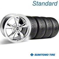 Chrome Bullitt Wheel & Sumitomo Tire Kit - 18x9 (99-04) - AmericanMuscle Wheels 28019||63016