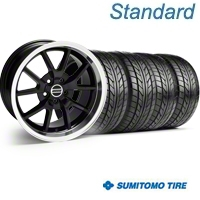 Black FR500 Wheel & NITTO Tire Kit - 17x9 (99-04) - AmericanMuscle Wheels 28092||76000
