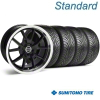 Black FR500 Wheel & Sumitomo Tire Kit - 18x9 (99-04) - AmericanMuscle Wheels 28272||63016