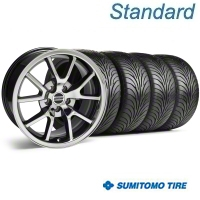 Black Chrome FR500 Wheel & Sumitomo Tire Kit - 18x9 (99-04) - AmericanMuscle Wheels 10103||63016