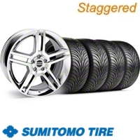 Staggered Chrome GT500 Wheel & Sumitomo Tire Kit - 18x9/10 (11-12)