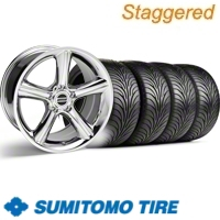Staggered Chrome GT Premium Wheel & Sumitomo Tire Kit - 18x9/10 (11-12)
