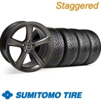Staggered Hypercoated GT Premium Wheel & Sumitomo Tire Kit - 18x9/10 (05-12)