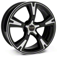 Black Machined Foose RS Wheel - 20x8.5 (05-13 All) - Foose Wheels F140208565+35