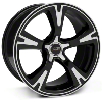 Black Machined Foose RS Wheel - 20x10 (05-14 All) - Foose F140200065+40