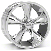 Foose Legend Chrome Wheel - 18x8.5 (05-10 GT, V6) - Foose F105188566+34