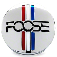 Foose Tri-bar Style Center Cap - Chrome - Foose Wheels 1003-41