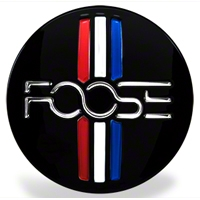 Foose Tri-bar Style Center Cap - Gloss Black - Foose Wheels 1003-41GB