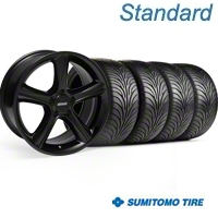 Black 2010 Style GT Premium Wheel & Sumitomo Tire Kit - 18x9 (99-04) - AmericanMuscle Wheels 28210||63016