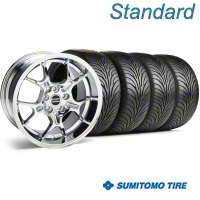 Chrome GT4 Wheel & Sumitomo Tire Kit - 18x9 (99-04) - AmericanMuscle Wheels 28133||63016