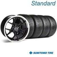 Black GT4 Wheel & Sumitomo Tire Kit - 18x9 (99-04) - AmericanMuscle Wheels 28132||63016