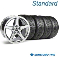 Chrome Saleen Style Wheel & Sumitomo Tire Kit - 18x9 (05-14) - AmericanMuscle Wheels KIT||28251||63008