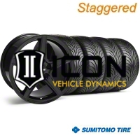 Staggered Black Saleen Style Wheel & Sumitomo Tire Kit - 18x9/10 (05-14) - AmericanMuscle Wheels KIT||28193||28252||63008||63009