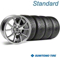 Chrome FR500 Wheel & Sumitomo Tire Kit - 18x9 (05-14) - AmericanMuscle Wheels KIT||28273G05||63008