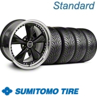 Black Bullitt Motorsport Wheel & Sumitomo Tire Kit - 18x9 (11-12)
