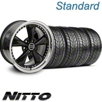 Black Bullitt Motorsport Wheel & NITTO Tire Kit - 20x8.5 (10-12)