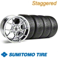 Staggered Chrome GT4 Wheel & Sumitomo Tire Kit - 18x9/10 (11-12)