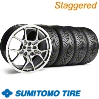Staggered Hypercoated GT4 Wheel & Sumitomo Tire Kit - 18x9/10 (11-12)