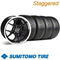 Staggered Black GT4 Wheel & Sumitomo Tire Kit - 18x9/10 (11-12)