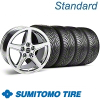 Chrome Saleen Wheel & Sumitomo Tire Kit - 18x9 (11-12)