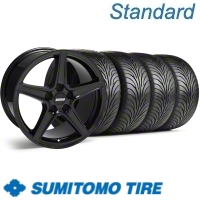 Black Saleen Wheel & Sumitomo Tire Kit - 18x9 (11-12)