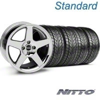 Chrome 2003 Style Cobra Wheel & NITTO Tire Kit - 17x9 (87-93; Excludes 93 Cobra) - AmericanMuscle Wheels KIT||28058||76004